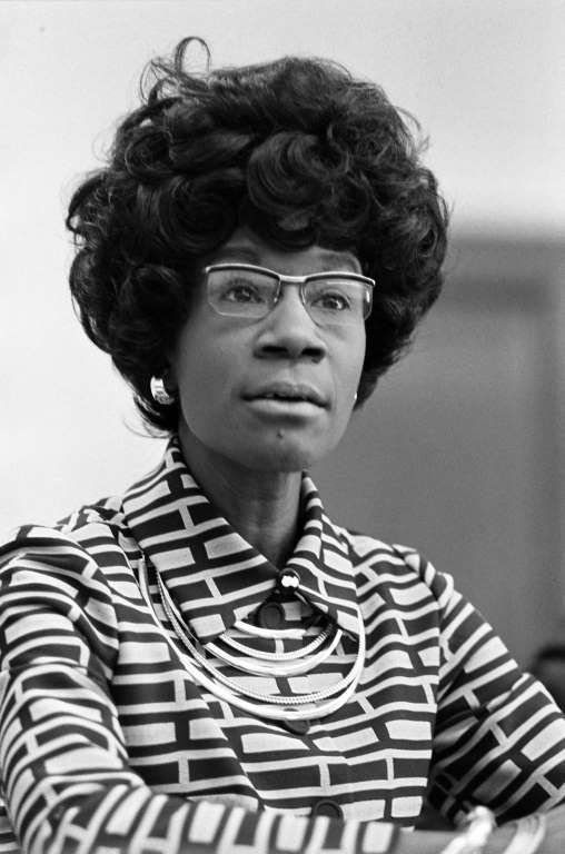 """Shirley Chisholm (1924-2005) With a Masters in early childhood education from Columbia University, Chisholm was steadfast in advocating liberal causes—her campaign motto was """"unbought and unbossed."""" As the first African-American woman elected to Congress, she represented a overwhelmingly Democratic constituency in a newly redistricted Brooklyn neighborhood and in 1971 was a founding member of the Congressional Black Caucus. The following year she ran a historic campaign for the Presidential…"""