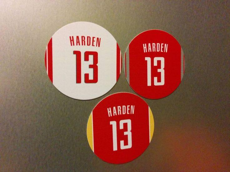 James Harden Magnet - #13 Jerseys Houston Rockets - Round 3 inch magnets #HoustonRockets