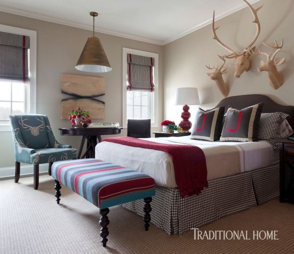 Son Jackson S Room Is Stylish Tailored And Masculine The Fabric On The Upholstered Beautiful Bedroomsbeautiful