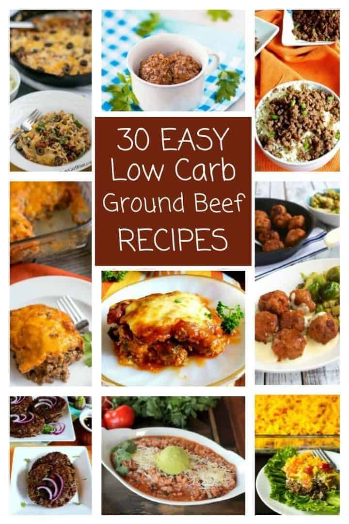 A Collection Of 30 Easy Low Carb Ground Meat Recipes That Your Family Is Sure To Love Ground Beef Rec Beef Recipes Ground Beef Recipes Low Carb Recipes Atkins