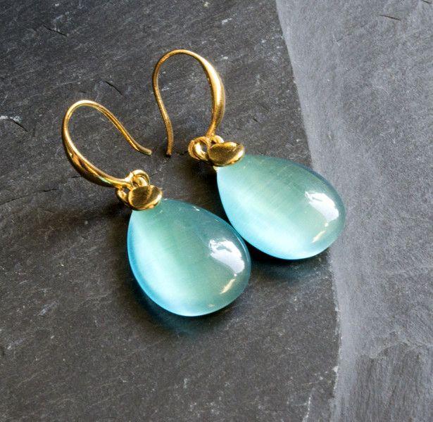 Ohrhänger - Steinohrringe in Gold - ein Designerstück von Dreamer-Telina bei DaWanda