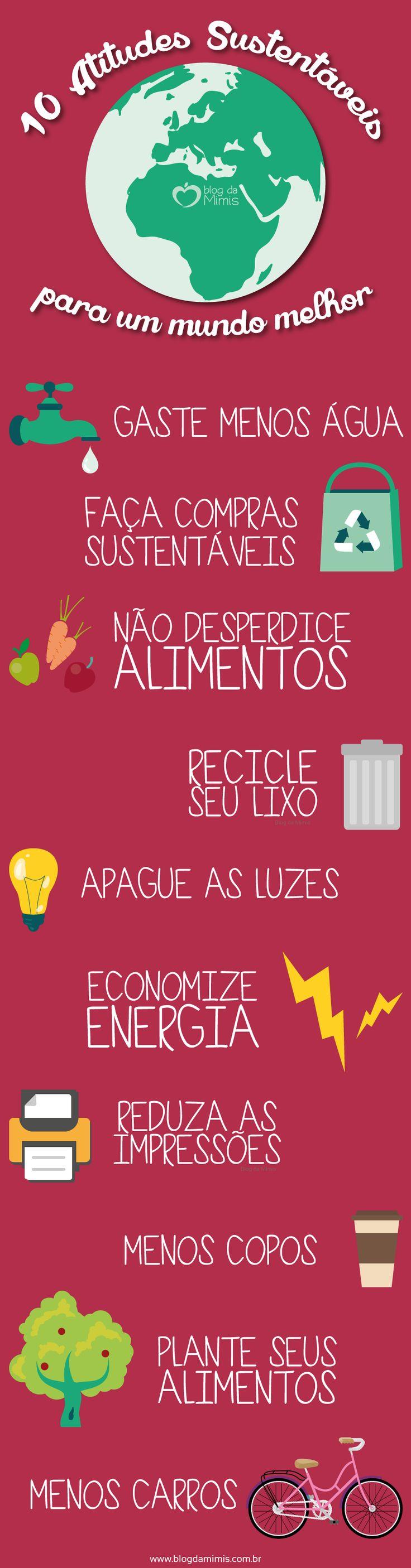 10 Atitudes sustentáveis para um mundo melhor - Blog da Mimis - Para que a…
