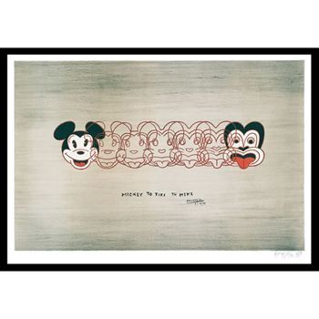 From Mickey To Tiki Tu Meke by Dick Frizzell Box Framed Print