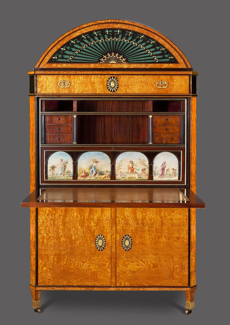 THE BEETHOVEN SECRETAIRE  An Exceptional Viennese Empire Mechanical Organ Secrétaire, the movement by Franz Egidius Arzt playing Beethoven's Battle Symphony  Circa 1815