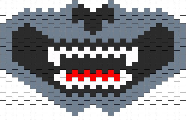 Grey Wolf Full Face Mask Bead Pattern