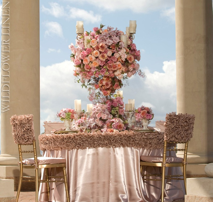 pink & red wedding reception