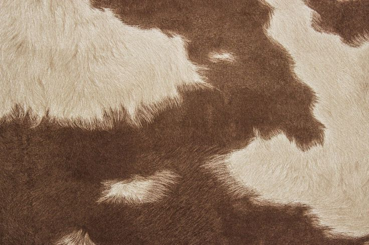 Suede Cowhide Fabric | Brown/White -The Fabric Mill