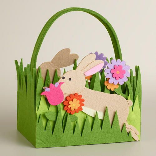 One of my favorite discoveries at WorldMarket.com: Leaping Bunny Felt Easter Basket  apr 18, 2014