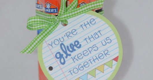 For Teacher Appreciation week we are doing a little gift each day.  Today we decided to get some glue sticks for Cailyn's teacher.  I s...