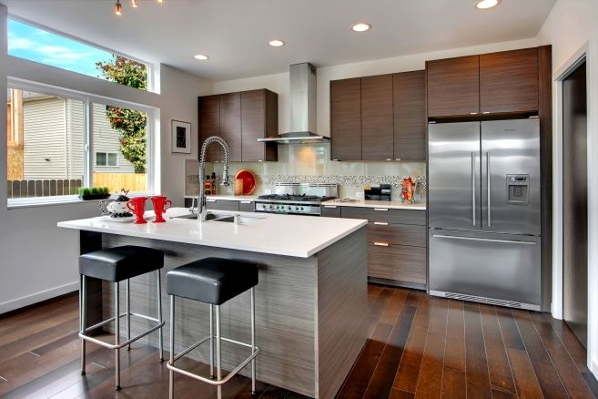 163 best abodian designs kitchens images on pinterest for Modern kitchen cabinets seattle