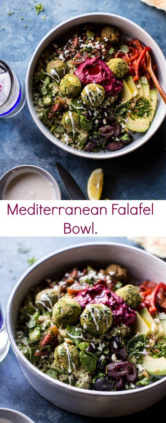 Mediterranean Falafel Bowl | halfbakedharvest.com @hbharvest