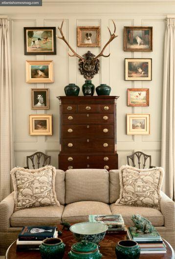 picture frames around furniture!