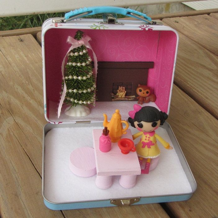 Mini Lalaloopsy Christmas carry along by UnderTheRoseArbor on Etsy