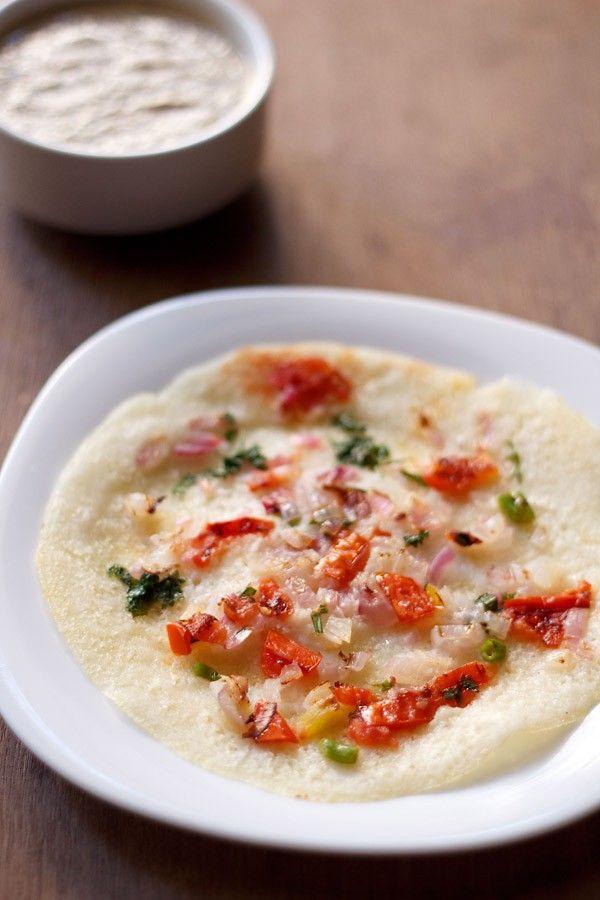 onion tomato uthappam recipe, making onion tomato uthappam