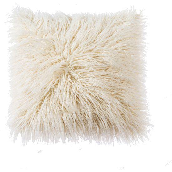 Faux Mongolian Fur Pillow Cover