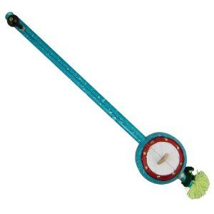 Iktara bleu en bois fabriqué artisanalement en Inde - Instrument de musique folklorique indienne avec 1 corde: Amazon.fr: Instruments de musique