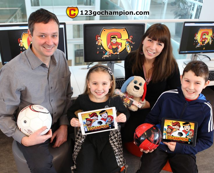 Livres interactifs et sportifs pour enfants multiplateformes www.123gochampion.com