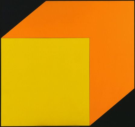 Yellow Orange Ellsworth Kelly (American, born 1923)  1968. Oil on canvas, two panels, 58 3/8 x 62 (148.2 x 157.5 cm). The Riklis Collection of McCrory Corporation. © 2013 Ellsworth Kelly