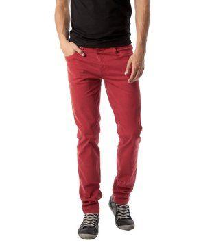 Pantalon slim homme rouge - Promod