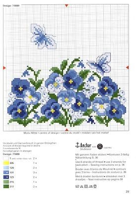 Ponto cruz: Almofadas de flores #cross stitch and embroidery #afs 18/5/13