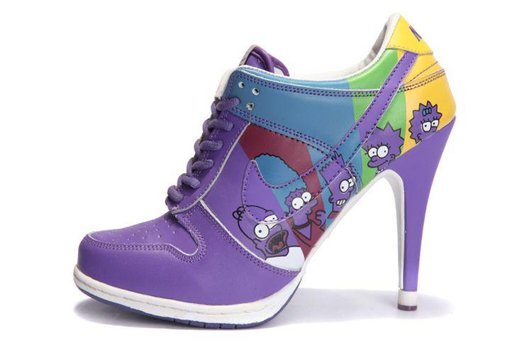 Nike High Heels | Nike SB Dunk High Heels The Simpson Purple Blue