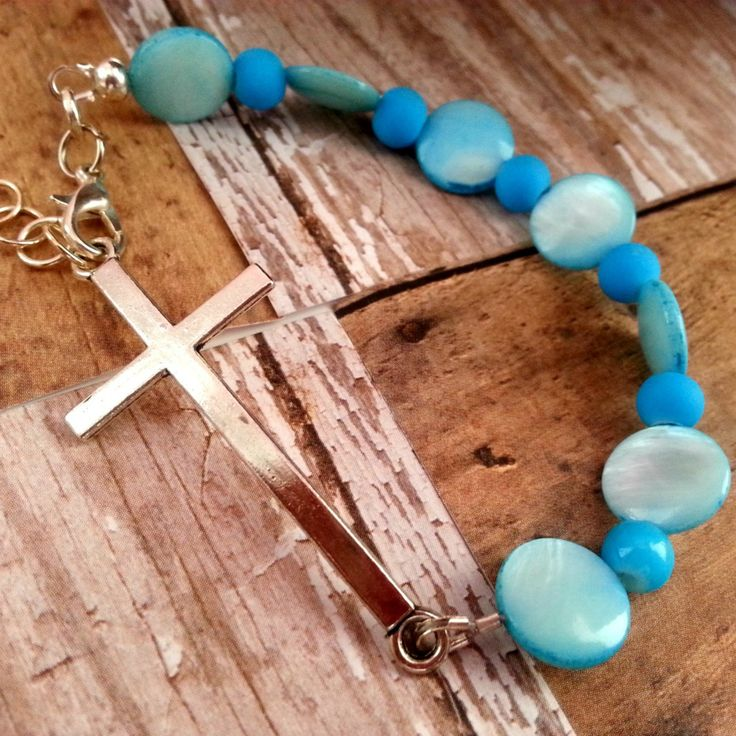 Christian Jewelry For Women Turquoise Cross Bracelet Christian Jewelry Christian Bracelet15.00 USD