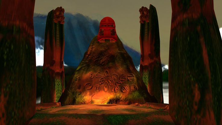 ArtStation - Kanohi Shrine (Bionicle Fan Art), Blaine Fox