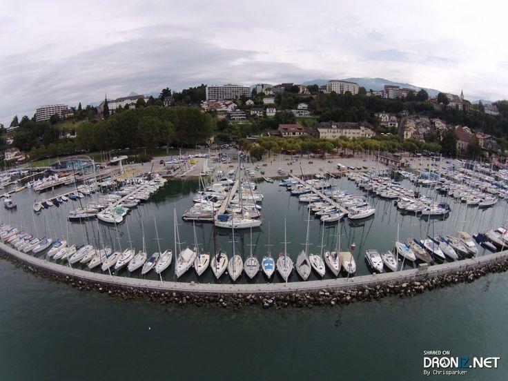 Aerial drone Photo from France by Chrisparker : 27 Chemin de Montjoux, 74200 Thonon-les-Bains, France