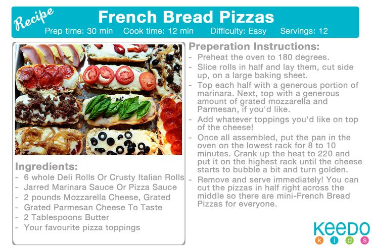 French bread pizzas http://thepioneerwoman.com/cooking/2013/07/french-bread-pizzas/