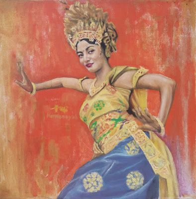 Filani Art: Balinese Dancer (Acrylic Painting)