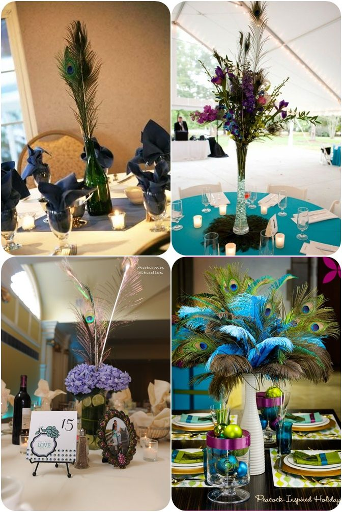 47 best images about flowers on pinterest feathers - Peacock arrangements weddings ...