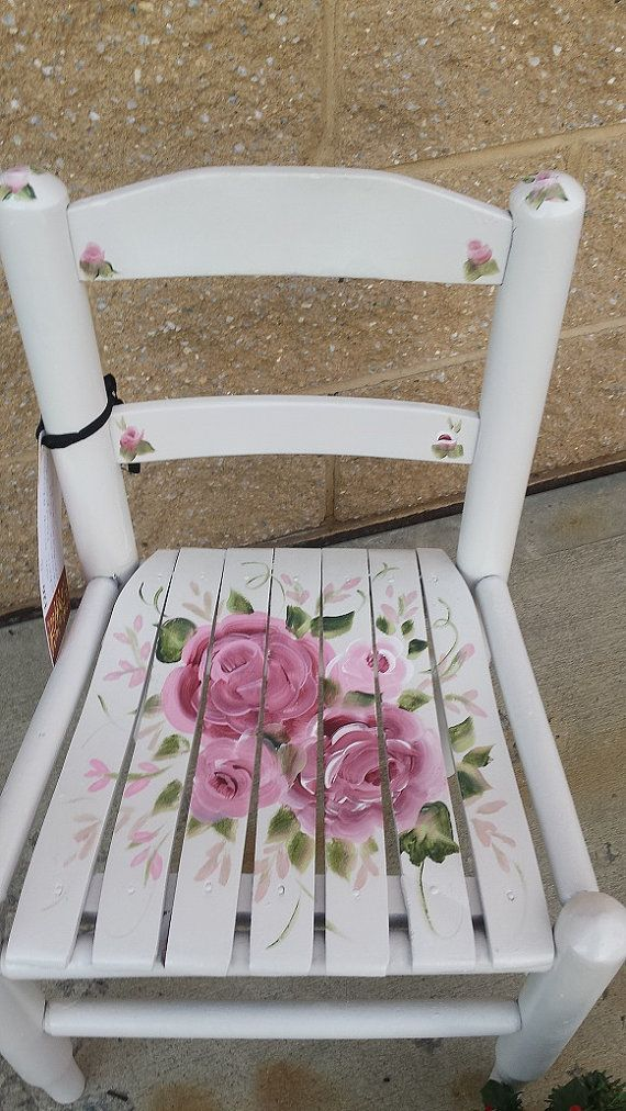 Vintage Painted child's chair PICK UP ONLY by HandpaintedbyCookie
