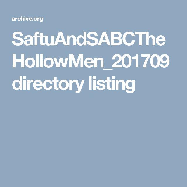 SaftuAndSABCTheHollowMen_201709 directory listing