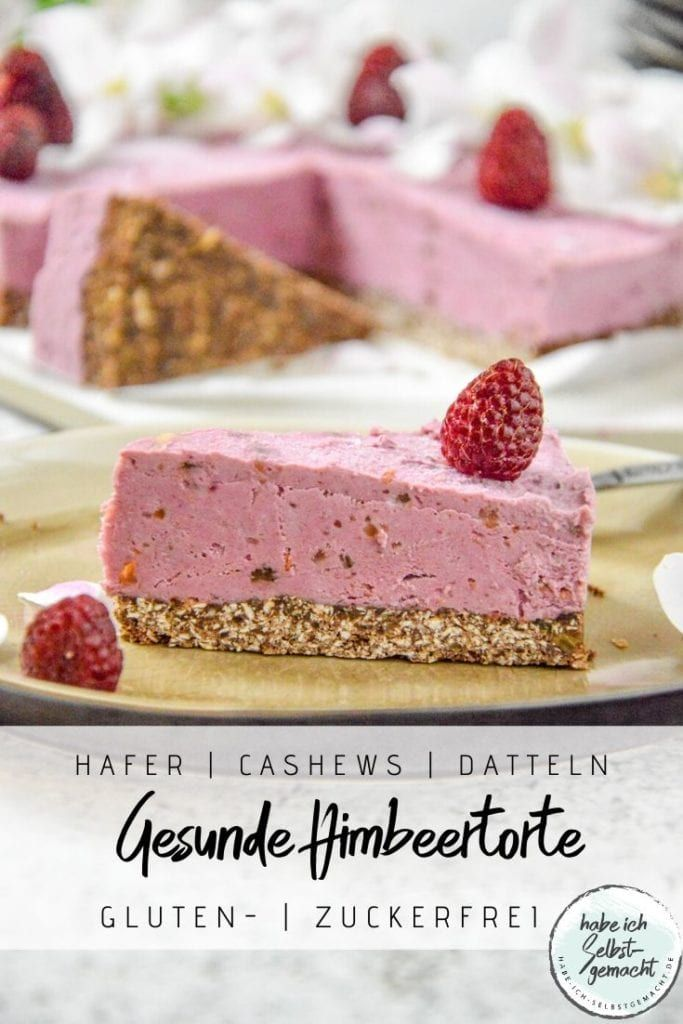 No Bake Himbeerkuchen Rezept In 2020 Himbeerkuchen Kuchen Und Torten Rezepte Gesunde Desserts