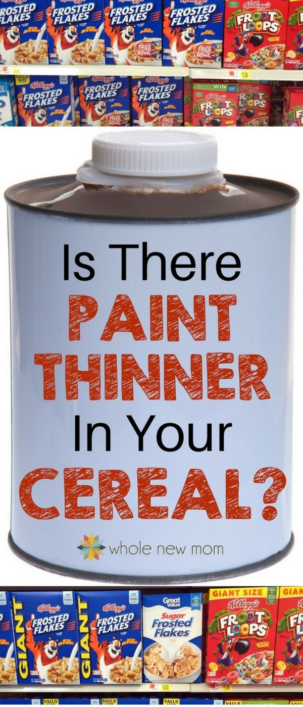 Trisodium Phosphate in Cereal--Is it a problem? 'Paint Thinner' (TSP (Trisodium phosphate) is in many products. Should you be worried or is it no big deal? #healthliving #toxins via @wholenewmom