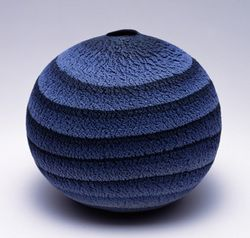 """Interweaving Patterns, Colorful Symphony Through """"marbled ware"""", pottery created by the technique of combining and molding different colored clays to create a pattern, MATSUI Kosei (1927-2003) beca…"""