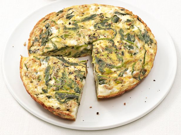 Spinach and Feta Frittata recipe from Food Network Kitchen via Food Network