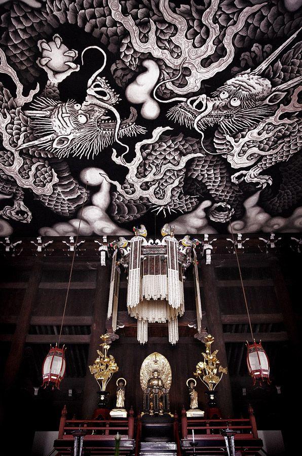 Twin Dragons  Kennin-ji is a Zen-temple #kyoto #japan