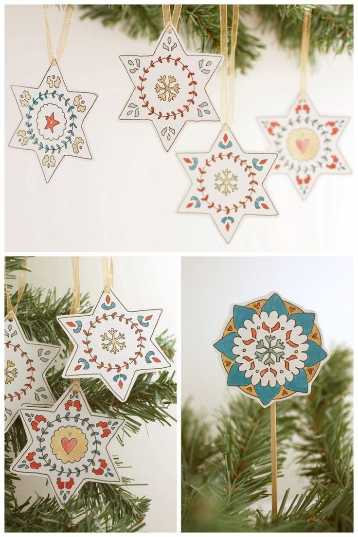 scandinavian Archives - DIY Christmas Crafts Free printable scandinavian ornaments