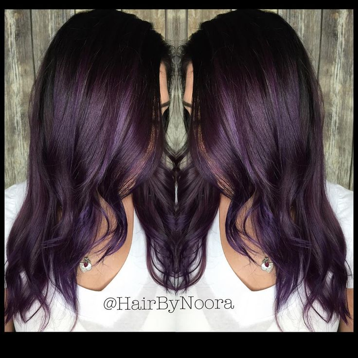 """Metallic Eggplant Added a flicker of @pravana #VividBlack to give this rich…"
