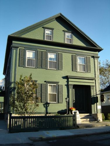 Lizzie Borden House~~          Lizzie Borden took an axe          And gave her mother forty whacks.          When she saw what she had done          She gave her father forty-one.