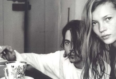 Johnny Depp  Kate Moss over coffee