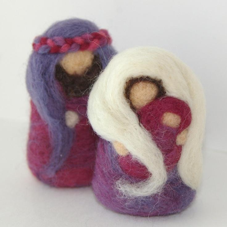 Needlefelted Wool Nativity