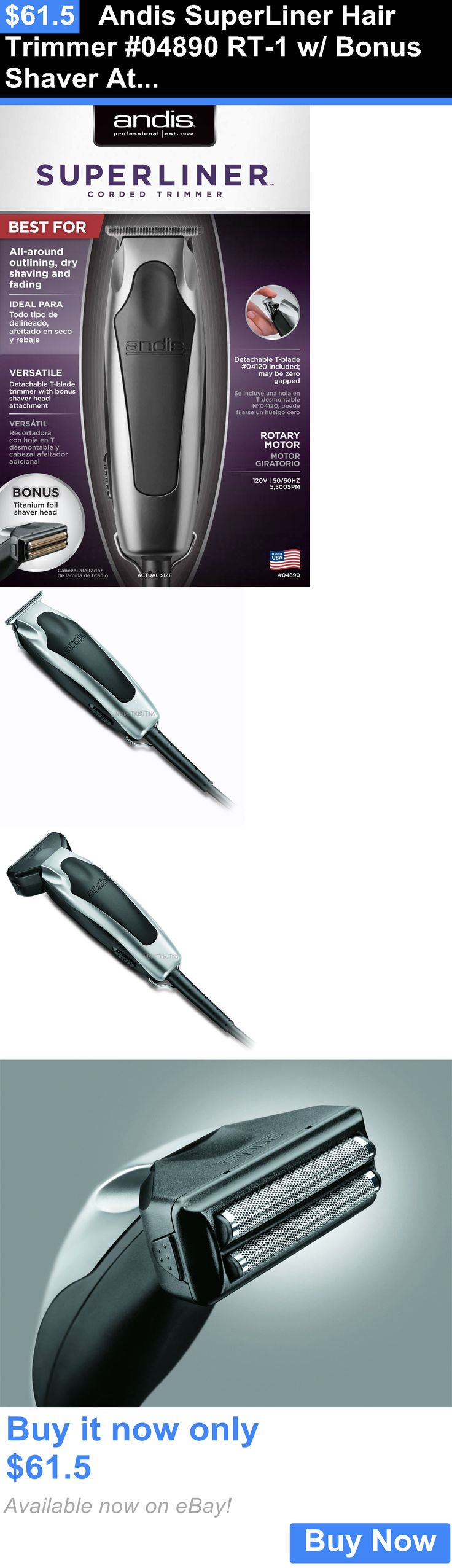 Clippers and Trimmers: Andis Superliner Hair Trimmer #04890 Rt-1 W/ Bonus Shaver Attachment - New BUY IT NOW ONLY: $61.5