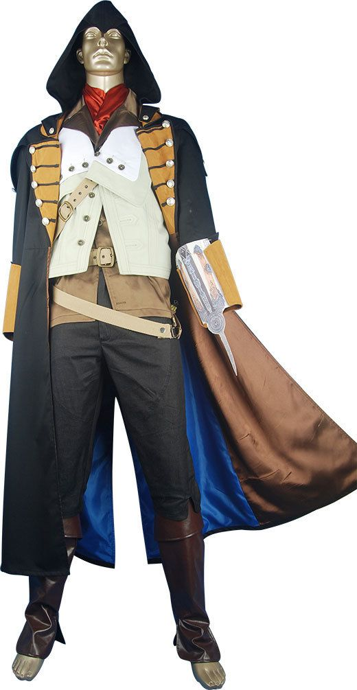 Assassins Creed Unity Arno Dorian cosplay costume halloween costume carnival costume for kids children adult video game geek costume