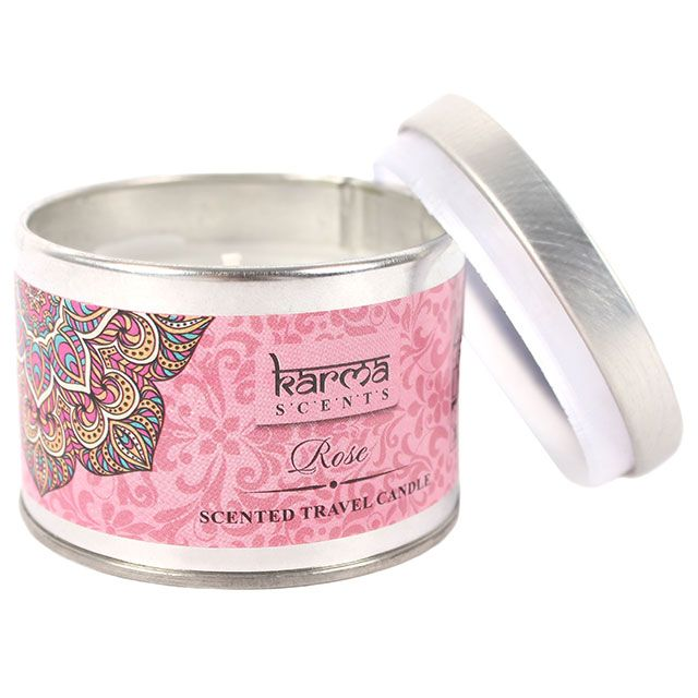 Wholesale Rose karma candle tin - Something Different