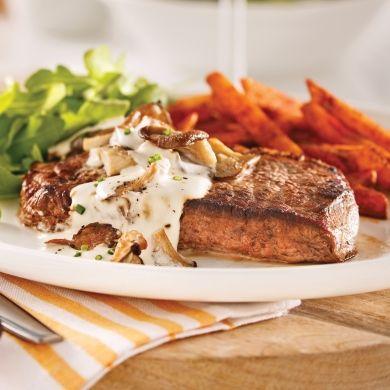 Entrecôtes, sauce aux champignons - Recettes - Cuisine et nutrition - Pratico Pratique