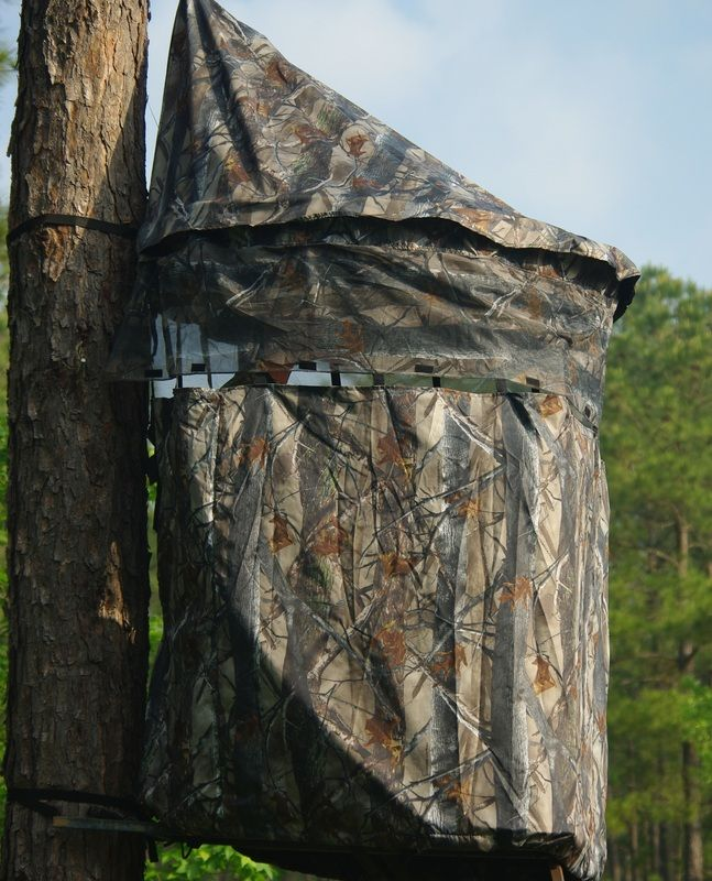 The Chameleon Bow Hunting Blind has you covered all season! Get total coverage for your existing tree stand or use the Chameleon Blind on the Ground!