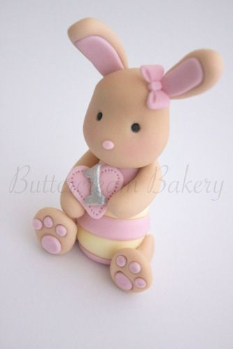sugar paste bunny cupcake toppers - Google Search