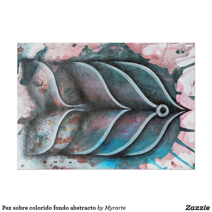 Pez sobre colorido fondo abstracto. Producto disponible en tienda Zazzle. Product available in Zazzle store. Regalos, Gifts. Link to product: http://www.zazzle.com/pez_sobre_colorido_fondo_abstracto_poster-228254956817307771?CMPN=shareicon&lang=en&social=true&rf=238167879144476949 #poster #pez #fish